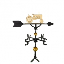 "32"" Deluxe Gold Bronze Tractor Weathervane-0"