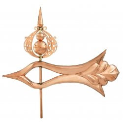 3-D Polished Extra Large Ornate Arrow-0