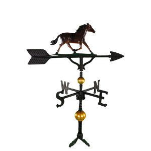 "Old Barn Rustic Co. 32"" Deluxe Horse Weathervane -0"
