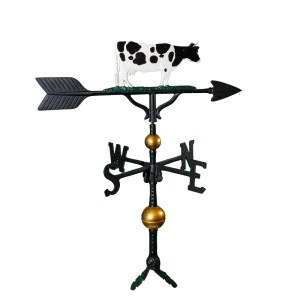 "Old Barn Rustic Co. 32"" Deluxe Cow Aluminum Weathervane -0"