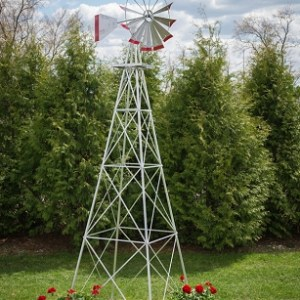 Twelve Foot Ornamental Aluminum Windmill-0