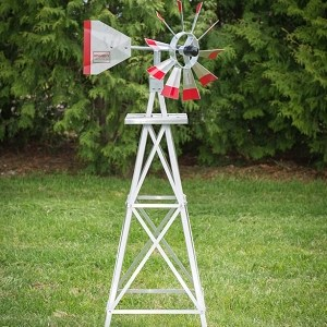 Four Foot Ornamental Aluminum Windmill-0
