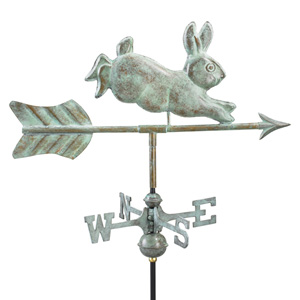 Cottage Sized Rabbit Puer Copper Weathervane -0