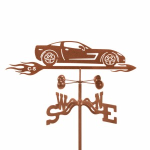 Corvette C5 with Flames Weathervane-0