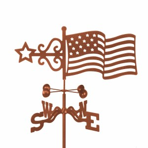 American Flag Weathervane -0