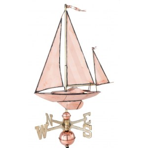 Small Sailboat Copper Weathervane-0