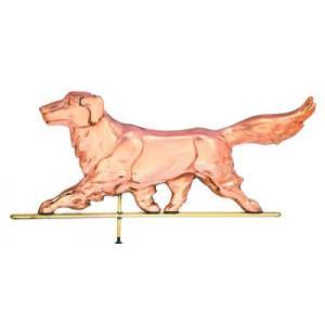 Golden Retriever Dog Copper Weathervane-0