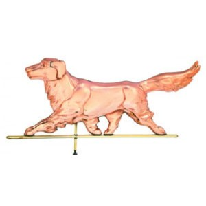Golden Retriever Dog Copper Weathervane-0