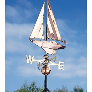 Copper Sailboat Weathervane-0