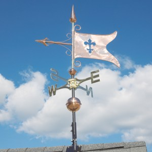 Copper Banner Weathervane-0