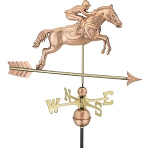 Horse & Rider Copper Weathervane 1912-0