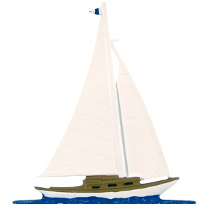 "30"" Sailboat Weathervane-0"