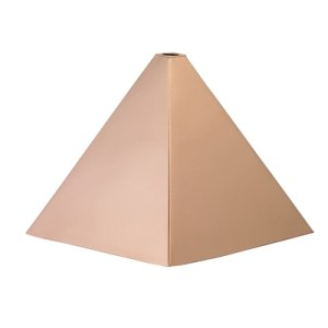Square Polished Copper Finial Cap -0