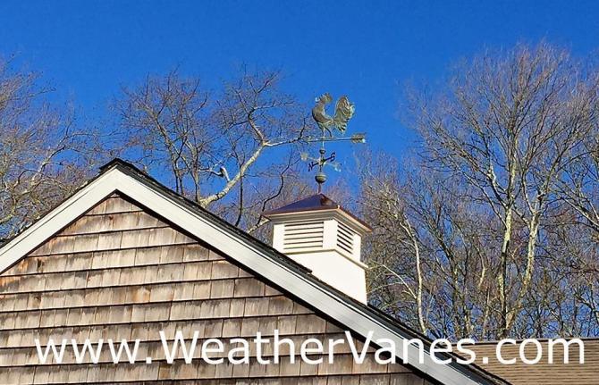 Rooster Crowing Weathervane-2677