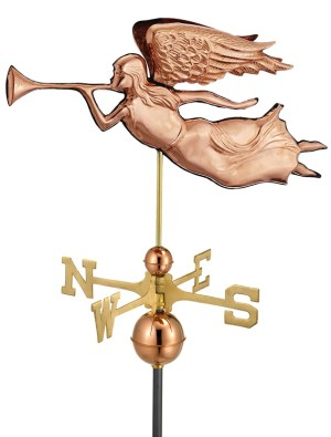 Angel Handcrafted Pure Copper Weathervane -0