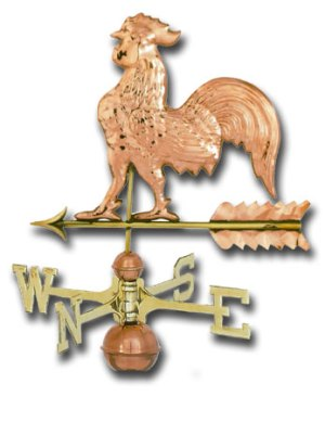Detailed Small Copper Rooster Weathervane-0