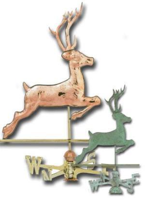 Deer Copper Weathervane-0