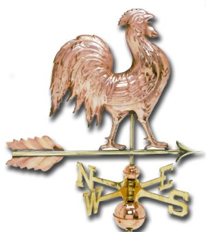 Detailed Copper Rooster Weathervane-0
