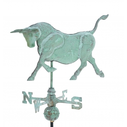 Bull 3-D Copper Weathervane-3848