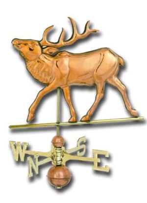 Elk Copper Weathervane-0