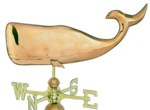 Large Whale Copper Weathervane-0