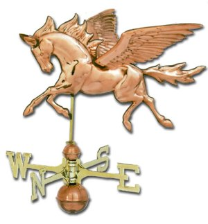 Pegasus 3-D Copper Weathervane-0