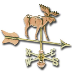 Moose Cottage Copper Weathervane-0