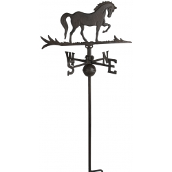 "Horse steel Weathervane With Roof Mount 40""H x 14""L-0"