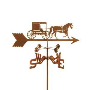 Amish Horse and Buggy Weathervane-0