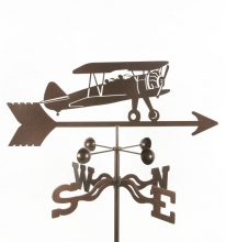 Airplane-Bi-Plane Weathervane-0