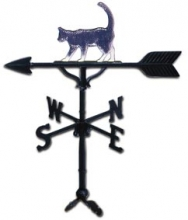 "32"" Cat Aluminum Weather Vane-0"