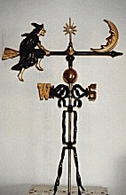 Witch Aluminum Weathervane-0