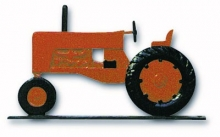 "Old Barn Rustic Co. 32"" Steel Tractor Weather Vane Orange-0"