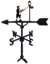 "Old Barn Rustic Co. 32"" Steel Lamplighter Weather Vane -0"