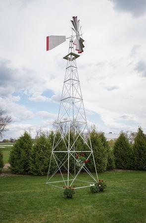 Thirty Foot Ornamental Aluminum Windmill-0
