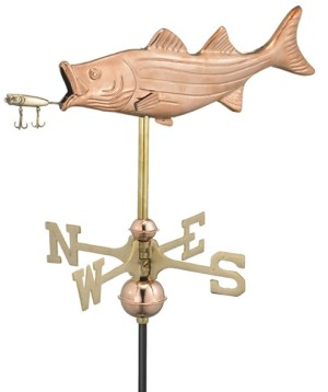 Bass & Lure Fish Weathervane 8847