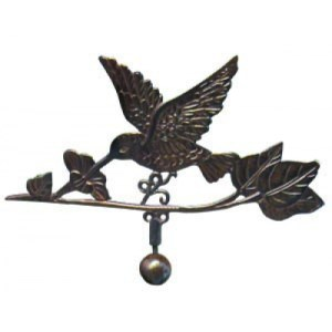 Steel Hummingbird Weathervane With Garden Stake-3992