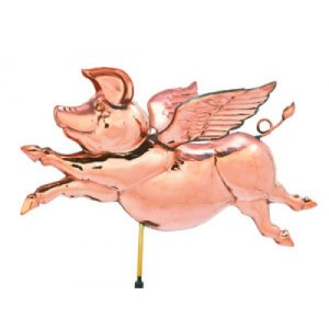 Flying Pig Copper Weathervane-0