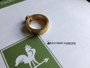 "Brass Ring & Set Screw For Standard Size 3/4"" Weathervane Rod-0"