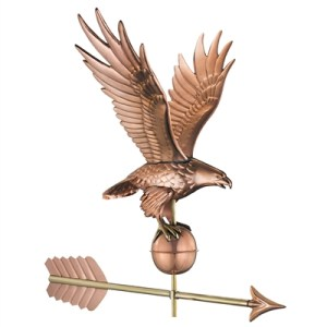 American Freedom Eagle Weathervane Handcrafted From Pure Copper-0