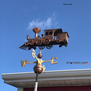 Handcrafted Copper Locomotive WeatherVane-0
