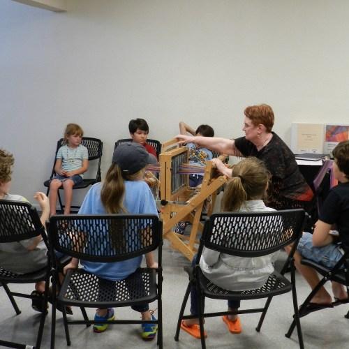 Demonstrating weaving