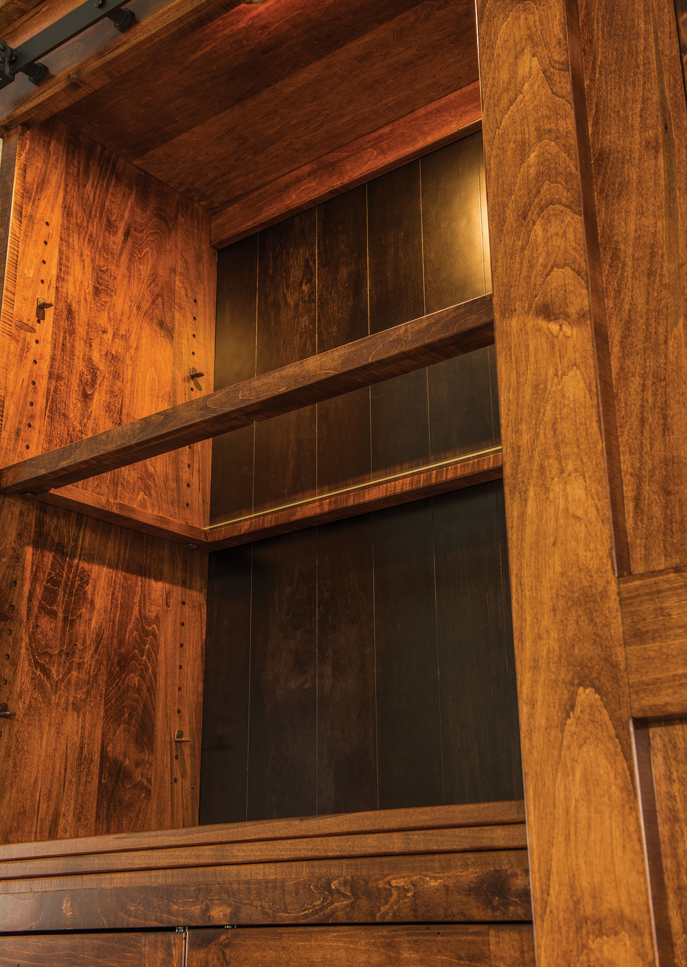 Teton Barn Door Wall Unit Custom Amish Teton Barn Door Wall Unit
