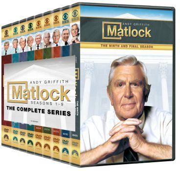 Complete Nine Seasons of Matlock on DVD