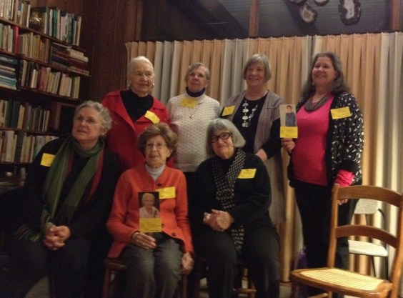 All the previous and current presidents of the Weavers Guild of the North Shore, gathered at a guild meeting