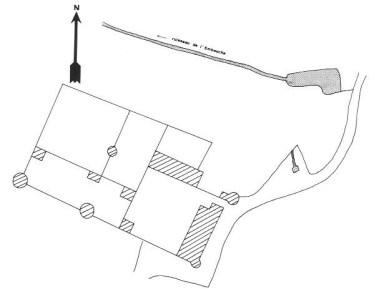 Plan du château de Prélichy