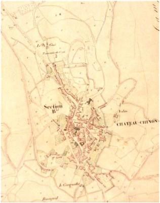 Ancien plan de la ville de Château-Chinon