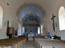 Église de Saint Germain des Bois vue de l'intérieur