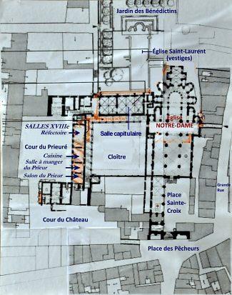 Le cloître de l'ancien prieuré