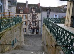 Maison à colombage rue des Moulins de Clamecy